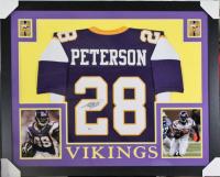 Adrian Peterson Signed Minnesota Vikings 35x43 Custom Framed Jersey (Beckett Hologram) at PristineAuction.com