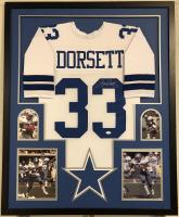 Tony Dorsett Signed Dallas Cowboys 35x43 Custom Framed Jersey (JSA COA) at PristineAuction.com