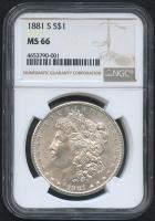 1881-S $1 Morgan Silver Dollar (NGC MS 66)