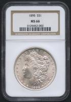 1898 $1 Morgan Silver Dollar (NGC MS 66)