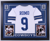 Tony Romo Signed Dallas Cowboys 35x43 Custom Framed Jersey (Beckett COA)