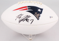 Rob Gronkowski Signed Patriots Logo Football (Beckett COA) at PristineAuction.com