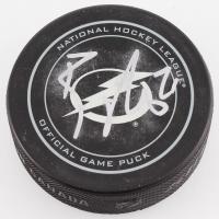 Brayden Point Signed Tampa Bay Lightning Logo Hockey Puck (JSA COA)