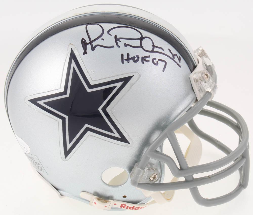 aae8983e8eb Michael Irvin Signed Dallas Cowboys Mini-Helmet Inscribed