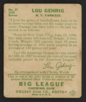 1934 Goudey #37 Lou Gehrig at PristineAuction.com