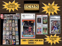 "Icon Authentic Blue Ice Mystery Box Series 3 - (300+ Cards Per Box) ""Bonus"" 1986 Fleer Set-Break Card in Every Box!!! at PristineAuction.com"