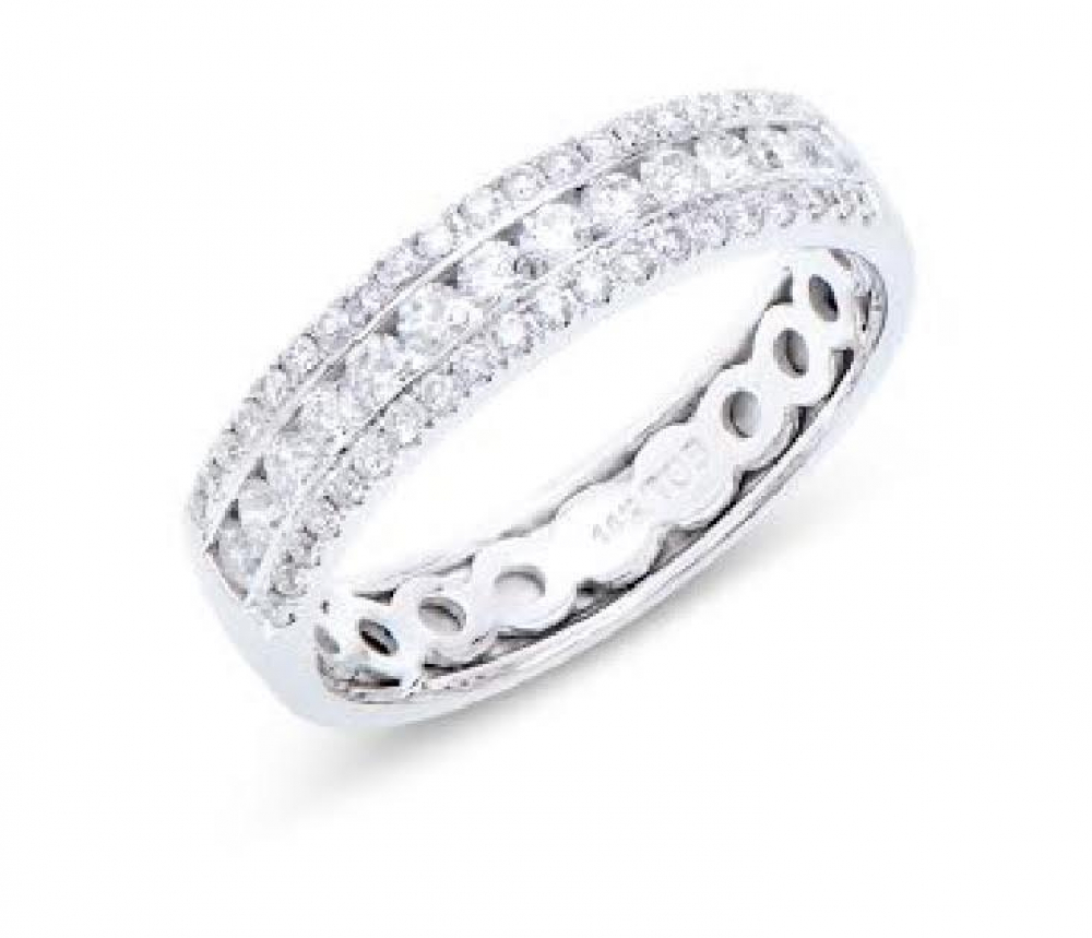 0.67 Cts Certified 4.28 Grams Diamond 14K White Gold Ring at PristineAuction.com
