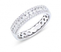 0.67 Cts Certified 4.28 Grams Diamond 14K White Gold Ring