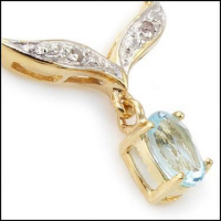 3.93 CT Blue Topaz & Diamond Elegant Necklace at PristineAuction.com