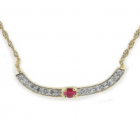 1.72 CT Ruby & Diamond Elegant Necklace