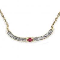 1.72 CT Ruby & Diamond Elegant Necklace