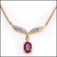3.92 CT Ruby & Diamond Elegant Necklace