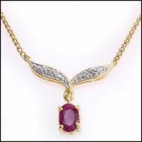 3.92 CT Ruby & Diamond Elegant Necklace