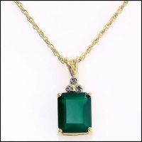 3.12 CT Emerald & Diamond Elegant Necklace