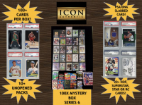 Icon Authentic Blue 100X Mystery Box Series 6 - (100+ Cards Per Box) at PristineAuction.com