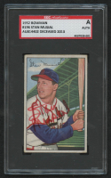 Stan Musial Signed 1952 Bowman #196 (SGC Encapsulated)