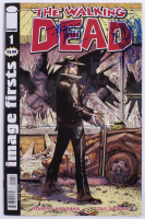 """Tony Moore Signed 2017 """"The Walking Dead"""" Image Firsts Issue #1F Image Comic Book with Zombie Sketch (Beckett COA)"""