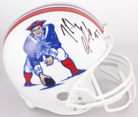 Rob Gronkowski Signed New England Patriots Full-Size Throwback Helmet (Beckett COA) at PristineAuction.com