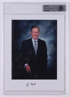George H. W. Bush Signed 8x10 Photo (BGS Encapsulated)