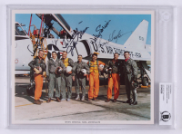Mercury 7 8x10 Signed by (5) With Gordon Cooper, Scott Carpenter, John Glenn, Wally Schirra (BGS Encapsulated)