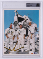 "Alan Bean & Richard F. Gordon Jr. Signed ""Apollo 12"" 8x10 Photo (BGS Encapsulated)"