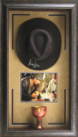"Harrison Ford Signed ""Indiana Jones"" 22x37 Custom Framed Fedora Display (Radtke COA)"