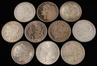 Lot of (10) Morgan Silver Dollars
