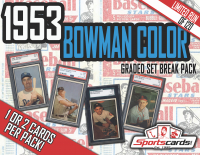 1953 BOWMAN COLOR BASEBALL COMPLETE SET BREAK! - Mystery Box - (1 or 2) GRADED Cards Per Pack! at PristineAuction.com