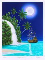 "Dan Mackin - ""Pirates Cove"" Signed Limited Edition 19x25 Fine Art Giclee #/275 (Mackin COA & PA LOA)"