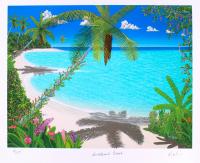 "Dan Mackin - ""Sweetheart Beach"" Signed Limited Edition 20x24 Fine Art Giclee #/275 (Mackin COA & PA LOA) at PristineAuction.com"