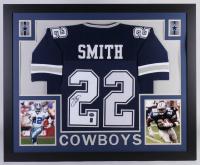 Emmitt Smith Signed Dallas Cowboys 35x43 Custom Framed Jersey (JSA Hologram & Prova Hologram) at PristineAuction.com