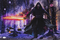 """Greg Horn Signed """"Star Wars Kylo Ren"""" 13x19 Lithograph (JSA COA)"""