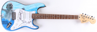 "Dave Grohl, Krist Novoselic, & Butch Vig Signed ""Nirvana"" 39"" Electric Guitar (PSA Hologram) at PristineAuction.com"