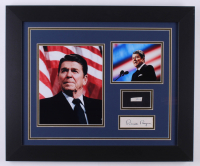 Ronald Reagan 19.5x23.5 Custom Framed Cut Display with (1) Hand-Written Word From Letter (JSA LOA Copy)