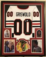 "Chevy Chase Signed Chicago Chicago Blackhawks 34"" x 42"" Custom Framed Jersey (Beckett COA & Chase Hologram)"