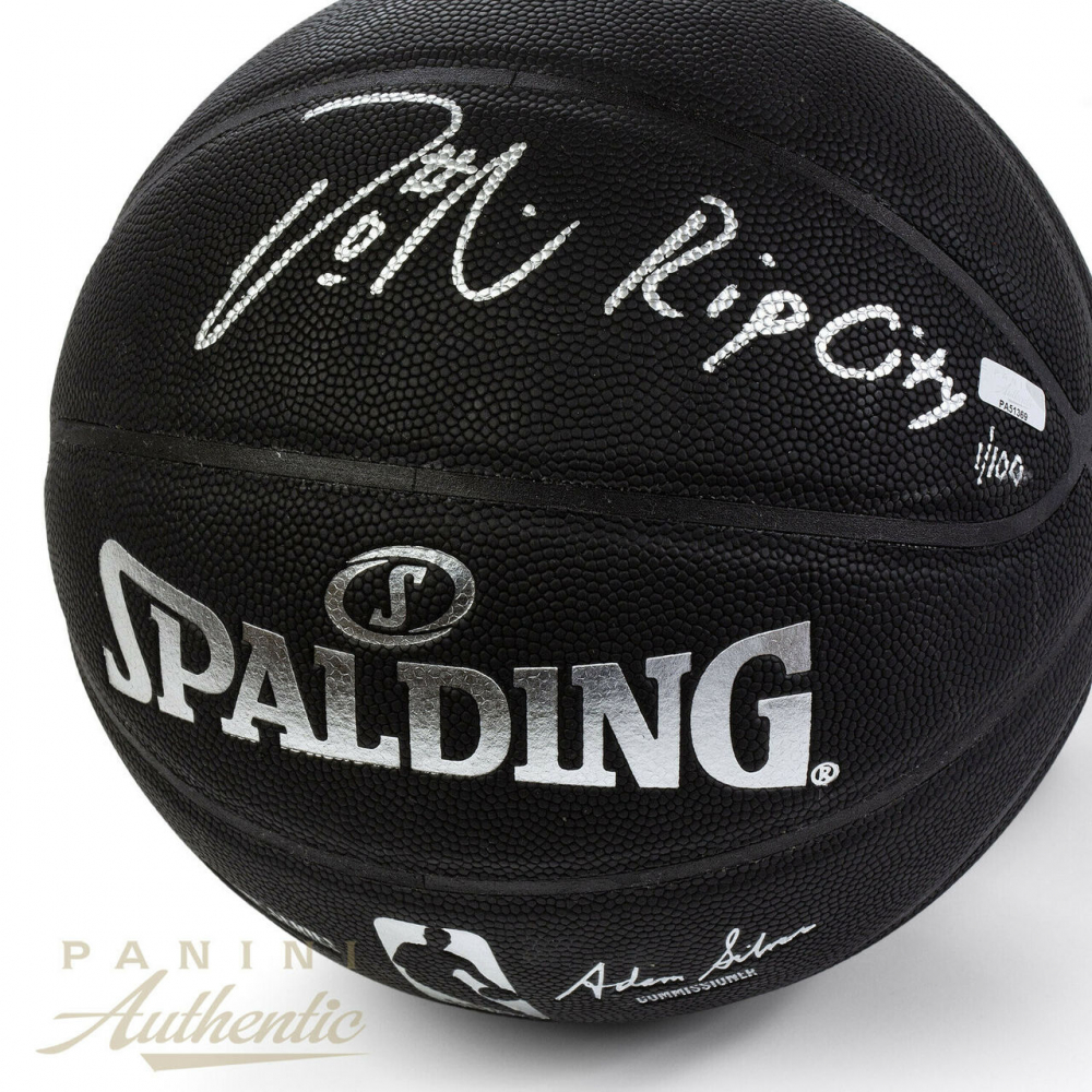 970444b3f Damian Lillard Signed LE NBA Arena Series Black Basketball Inscribed