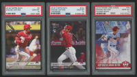 Lot of (3) PSA Graded 10 Shohei Ohtani Baseball Cards with 2018 Topps Now #5 / 4830*, 2018 Topps Now #32J / 4681* / Japanese, 2018 Diamond Kings #76 RC at PristineAuction.com