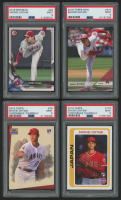 Lot of (4) PSA Graded 9 Shohei Ohtani Rookie Cards with 2018 Bowman #49 RC, 2018 Topps Now #210, 2018 Topps Throwback Thursday #79 / '93 Star Wars, 2018 Topps Throwback Thursday #107 / 79-80 Topps at PristineAuction.com