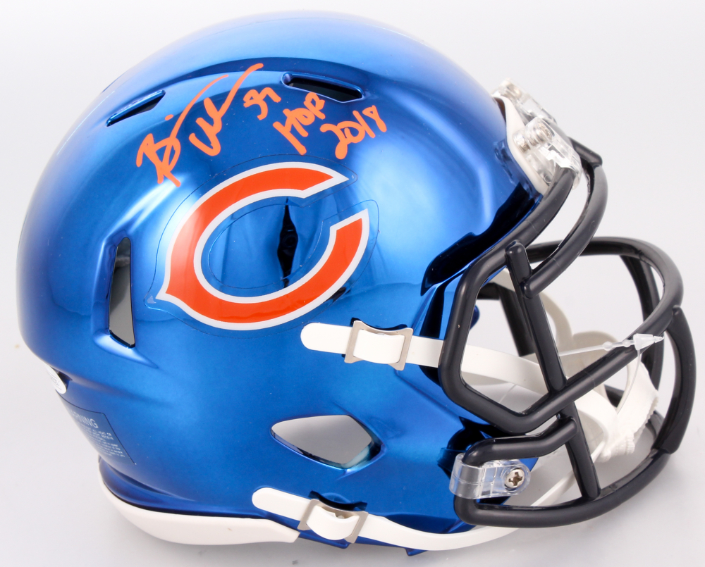 fc305253589 Brian Urlacher Signed Chicago Bears Chrome Speed Mini Helmet Inscribed