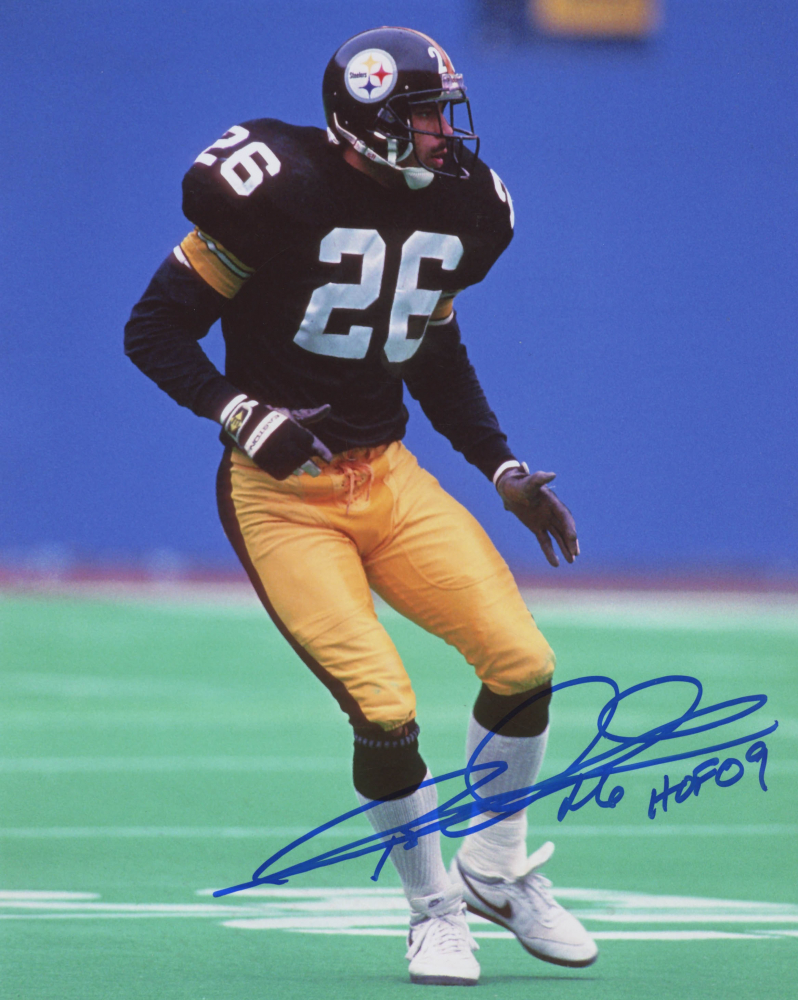 Rod Woodson Signed Pittsburgh Steelers 8x10 Photo Inscribed