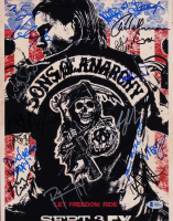 """Sons of Anarchy"" 11x14 Photo Cast-Signed by (19) with Charlie Hunnam, Katey Sagal, Tommy Flanagan, Kim Coates, Ron Perlman with Inscriptions (Beckett LOA)"