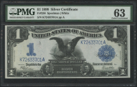 "1899 $1 One Dollar ""Black Eagle"" Silver Certificate Large Size Bank Note (PMG 63)"