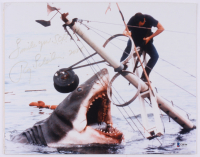 """Roy Scheider Signed """"Jaws"""" 11x14 Photo Inscribed """"Smile you S.O.B.!!"""" (Beckett COA)"""