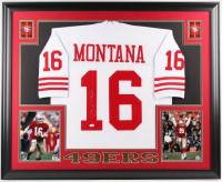 Joe Montana Signed San Francisco 49ers 35x43 Custom Framed Jersey (JSA Hologram)