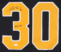 "Gerry Cheevers Signed Jersey Inscribed ""HOF 85"" (JSA COA) at PristineAuction.com"
