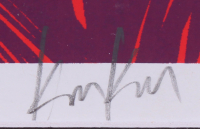 Metallica 24.25x32.25 Custom Framed Poster Display Band-Signed by (4) with James Hetfield, Lars Ulrich, Kirk Hammett & Robert Trujillo (PSA LOA) at PristineAuction.com