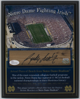 Rudy Ruettiger Signed Notre Dame Fighting Irish 8x10 Plaque with Bench Slab (JSA COA & Steiner Hologram) at PristineAuction.com