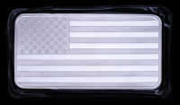 10 oz SilverTowne American Flag Silver Bullion Bar