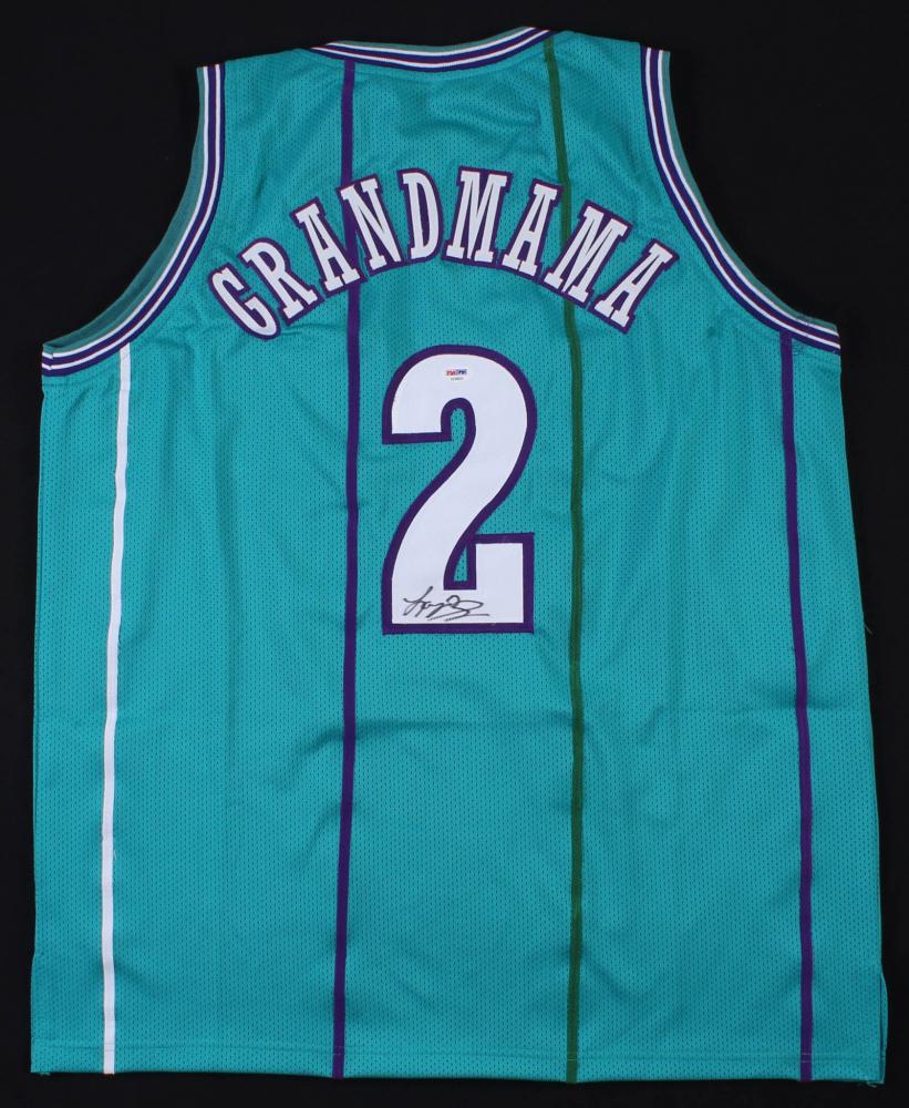 Larry Johnson Signed Charlotte Hornets