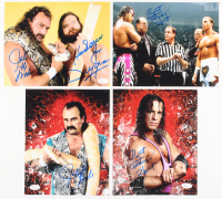 "Lot of (4) Signed Wrestling 8x10 Photos with (1) ""Hacksaw"" Jim Duggan & Jake ""The Snake"", (2)  Bret ""Hitman"" Hart, & (1) Jake  Roberts (JSA COA)"